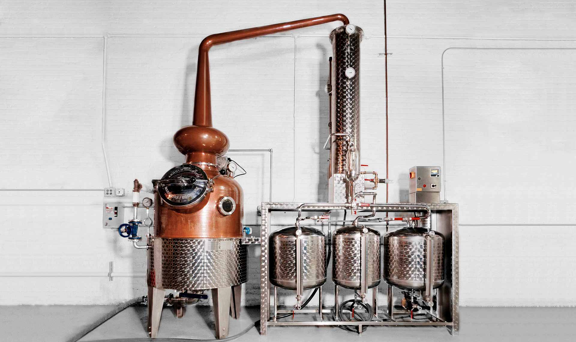 Greenhook Ginsmiths' Custom-Made Copper Still | greenhookgin.com