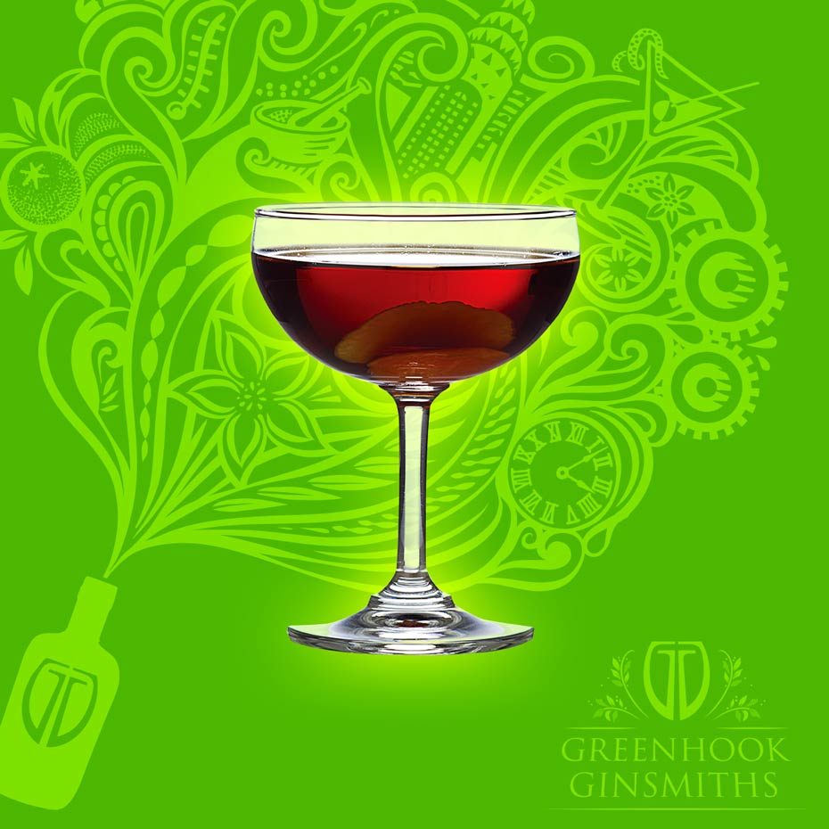Greenhook Ginsmiths' Cocktail Manhattan Ave Transfer | greenhookgin.com